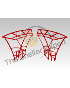 Armstrong 20 cycle double roof shelter