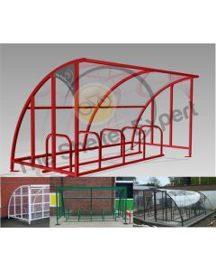 10 Bike Cycle Shelter - SOF10-Style13 and previous installations