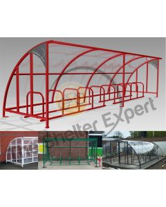 20 Bike Cycle Shelter - SOF10-Style13 and previous installations