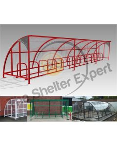 30 Bike Cycle Shelter - SOF30-Style13 and previous installations