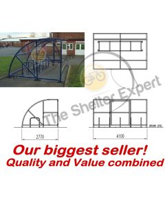 Expert Economy 10 cycle extended front shelter