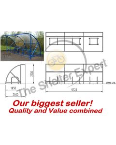 Expert Economy 14 cycle open front shelter