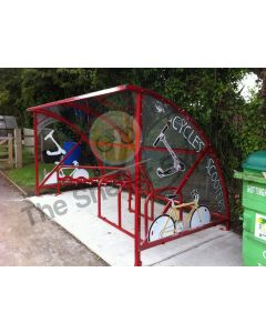 for schools 6 cycle shelter with 10 scooter rack