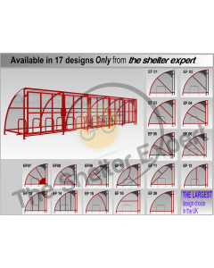 24 cycle gated front cycle shelter grid