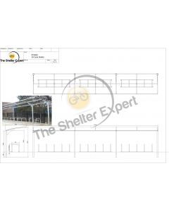 Rydale Cantilever cycle shelter for 30 bikes