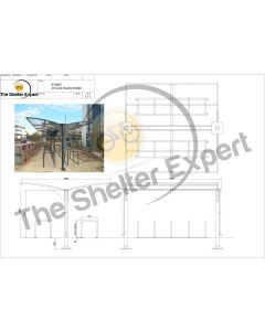Rydale Cantilever double sided cycle shelter for 20 bikes