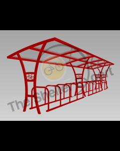 Samworth 24 cycle single shelter