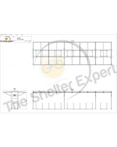 Sales drawing Ridings 24 cycle shelter