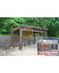 Woodborough Cycle Shelter; fully open and best buy