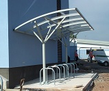 FS14 - Welbeck cycle shelter for 14 cycles
