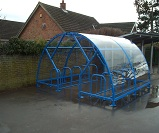 FS17 - Salisbury minor premium open compound cycle shelter for 20 bikes