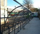 FS40 -  2 No. Harlan style 12 cycle shelters for 30 bikes