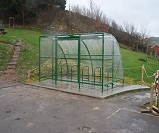 FS44 - Economy extended front lockable cycle shelter for 10 bikes