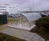 FS55 - Economy open compound cycle shelter for 40 bikes