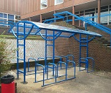 FS59 - Ridings roof only cycle shelter with storage for 26 bikes