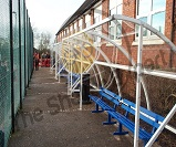 FS71 -Harlan  shelter  6.0mtr x 2.0mtr waiting shelter's, complete with heavy duty 5 bar steel bench