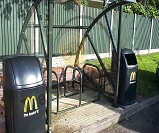 MacDonalds cycle shelter install